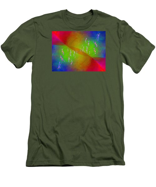 Men's T-Shirt (Slim Fit) featuring the digital art Abstract Cubed 355 by Tim Allen