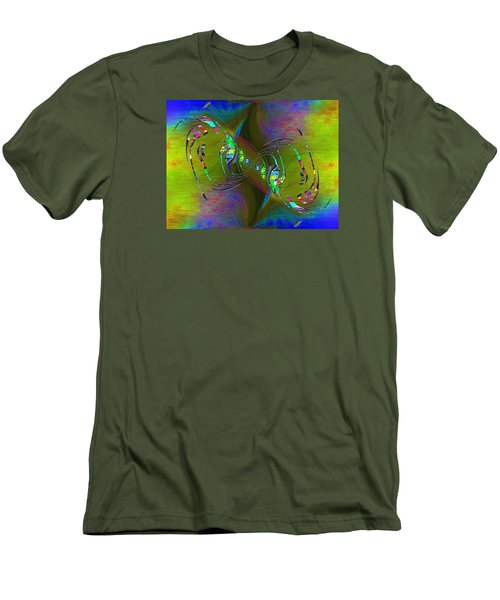 Men's T-Shirt (Slim Fit) featuring the digital art Abstract Cubed 361 by Tim Allen