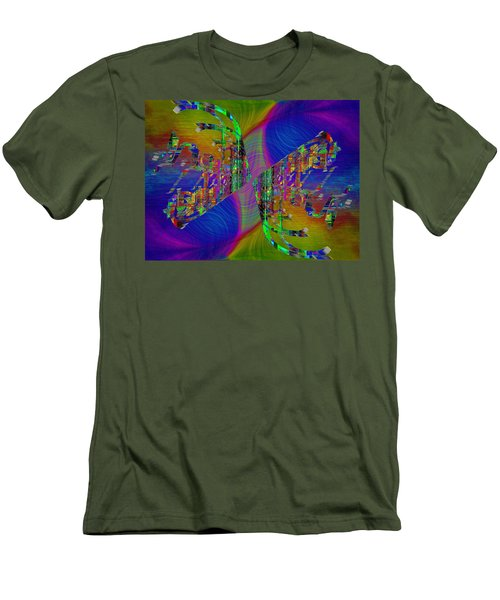 Men's T-Shirt (Slim Fit) featuring the digital art Abstract Cubed 368 by Tim Allen
