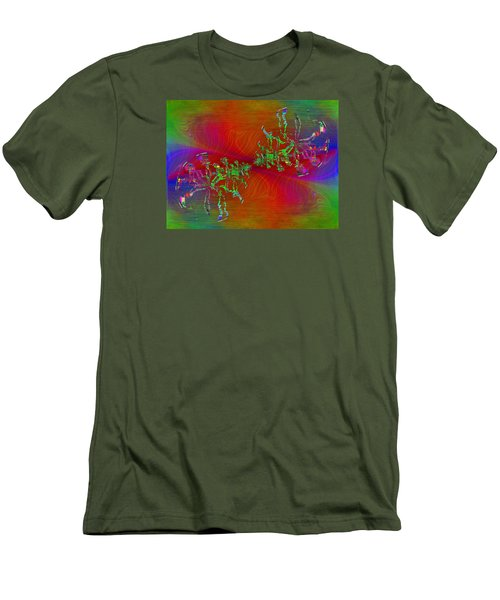 Men's T-Shirt (Slim Fit) featuring the digital art Abstract Cubed 371 by Tim Allen