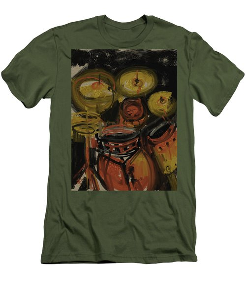 Abstract Drums Men's T-Shirt (Athletic Fit)