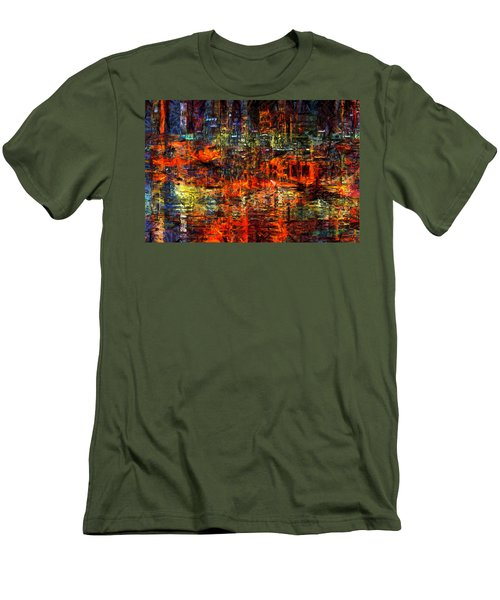 Abstract Evening Men's T-Shirt (Athletic Fit)