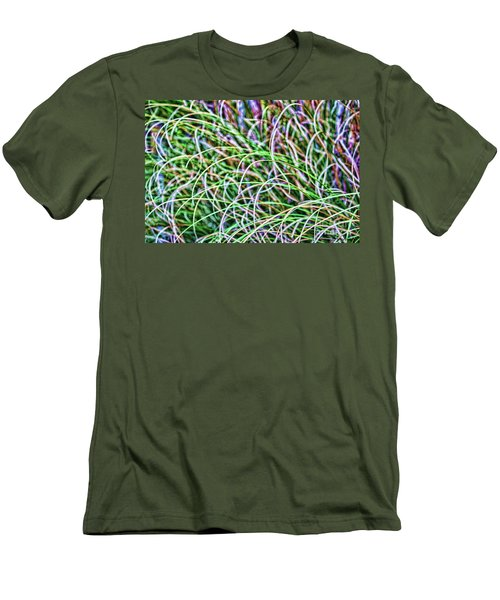 Abstract Grass Men's T-Shirt (Athletic Fit)