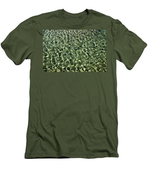 Men's T-Shirt (Slim Fit) featuring the photograph Abstract Lake Reflections by LeeAnn McLaneGoetz McLaneGoetzStudioLLCcom
