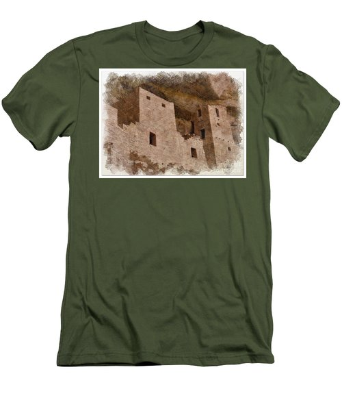 Men's T-Shirt (Slim Fit) featuring the photograph Abstract Mesa Verde by Debby Pueschel