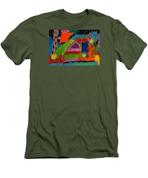 Abstract No. 7 Inner Landscape Men's T-Shirt (Slim Fit) by Maria  Disley