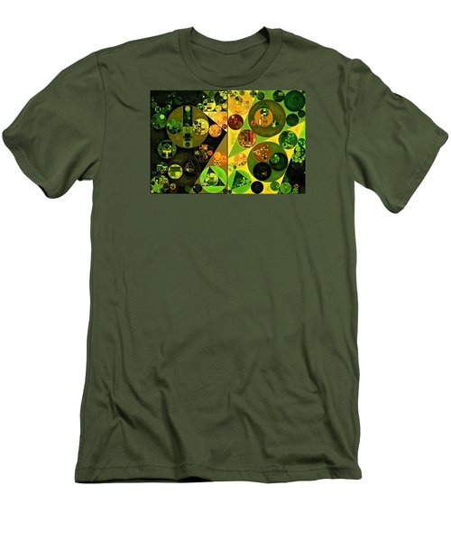 Abstract Painting - Barberry Men's T-Shirt (Slim Fit) by Vitaliy Gladkiy