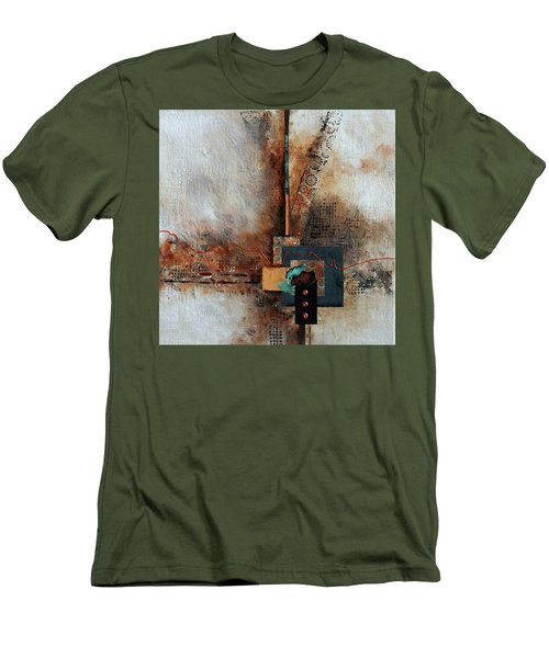 Men's T-Shirt (Slim Fit) featuring the painting Abstract With Stud Edge by Joanne Smoley