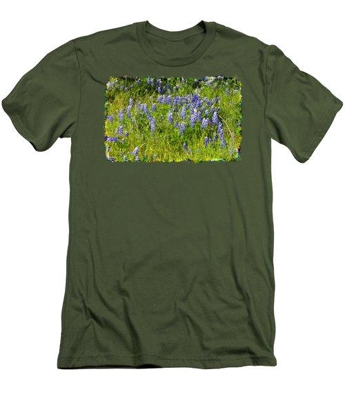 Men's T-Shirt (Slim Fit) featuring the photograph Abundance Of Blue Bonnets by Linda Phelps