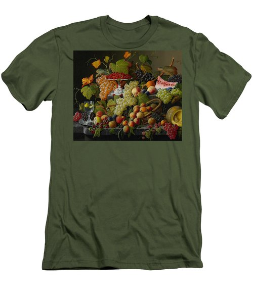 Abundant Fruit Men's T-Shirt (Slim Fit) by Severin Roesen