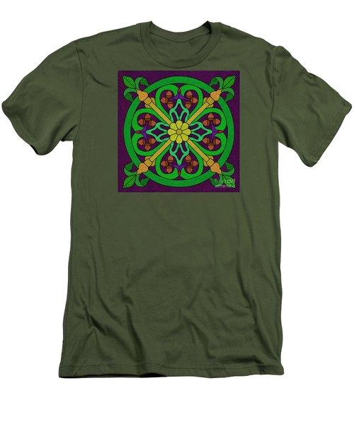 Acorn On Dark Purple 2 Men's T-Shirt (Slim Fit) by Curtis Koontz