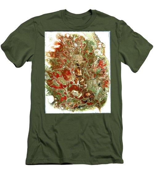 Acrylic Pour#6 On Canvas Men's T-Shirt (Athletic Fit)