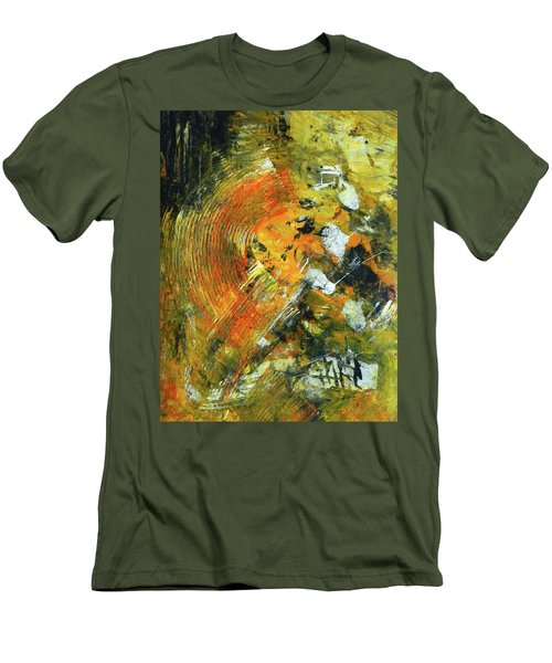 Men's T-Shirt (Slim Fit) featuring the painting Addicted To Chaos by Everette McMahan jr