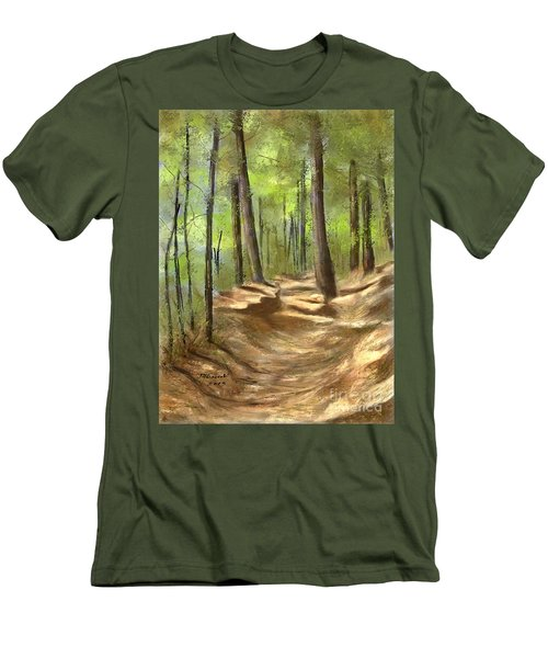 Adirondack Hiking Trails Men's T-Shirt (Slim Fit) by Judy Filarecki