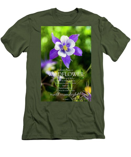 Advice From A Wildflower Columbine Men's T-Shirt (Slim Fit) by Teri Virbickis