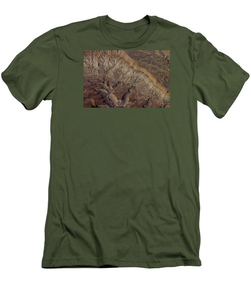 Aerial View Of Rock Formation Men's T-Shirt (Slim Fit) by Ivete Basso Photography