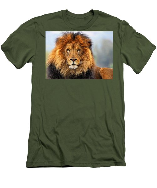 African Lion 1 Men's T-Shirt (Athletic Fit)