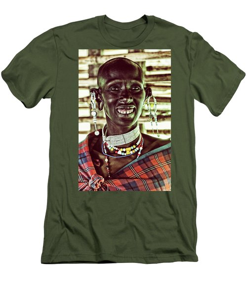 African Maasai Teacher Men's T-Shirt (Athletic Fit)