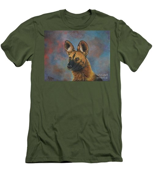 African Painted Wild Dog Men's T-Shirt (Athletic Fit)