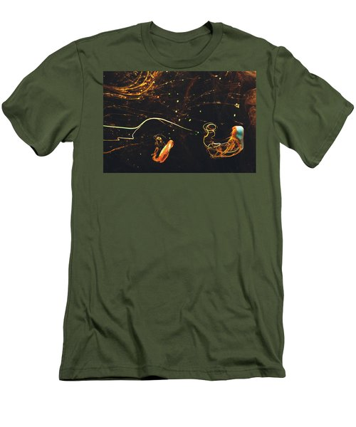 After Midnight - Abstract Photography - Paint Pouring Art Men's T-Shirt (Slim Fit) by Modern Art Prints