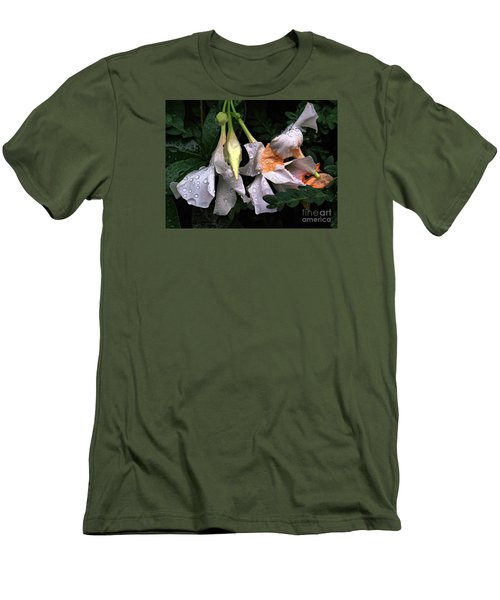 After The Rain - Flower Photography Men's T-Shirt (Athletic Fit)