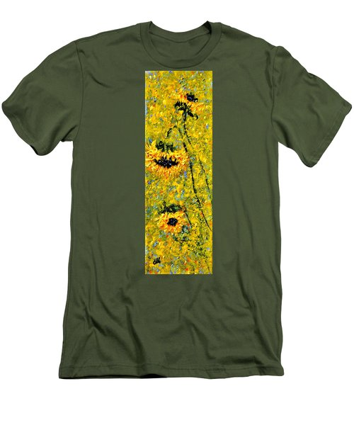 Men's T-Shirt (Slim Fit) featuring the painting After The Rain  Vi by Cristina Mihailescu