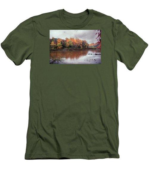Afternoon Rain Men's T-Shirt (Slim Fit) by John Rivera
