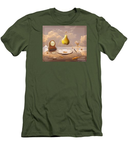 Men's T-Shirt (Slim Fit) featuring the drawing Afternoon Tea by Alexa Szlavics