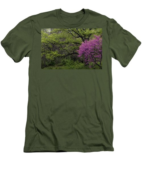 Afton Virginia Spring Red Bud Men's T-Shirt (Slim Fit) by Kevin Blackburn