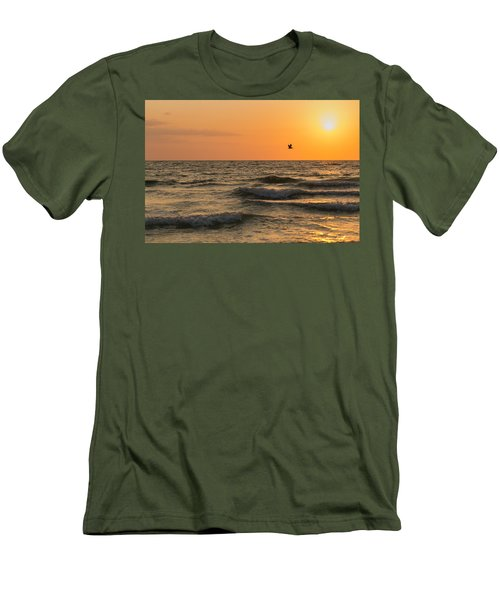 Against The Wind Men's T-Shirt (Slim Fit) by Christopher L Thomley