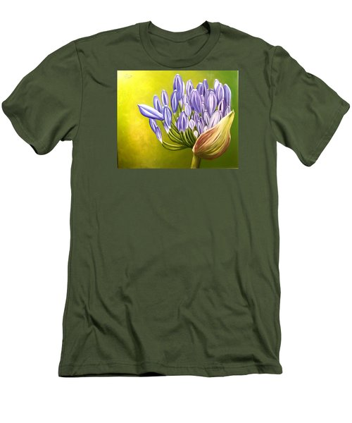 Men's T-Shirt (Slim Fit) featuring the painting Agapanthos by Natalia Tejera