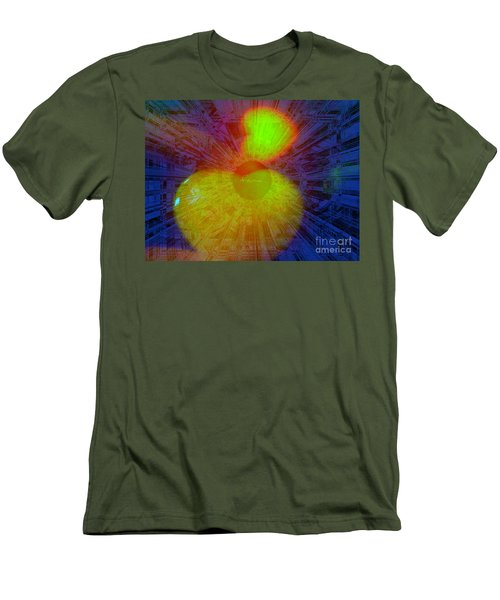 Men's T-Shirt (Slim Fit) featuring the mixed media Agape by Fania Simon