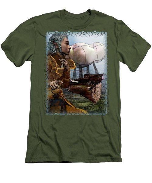 Airship Men's T-Shirt (Slim Fit) by Sharon and Renee Lozen