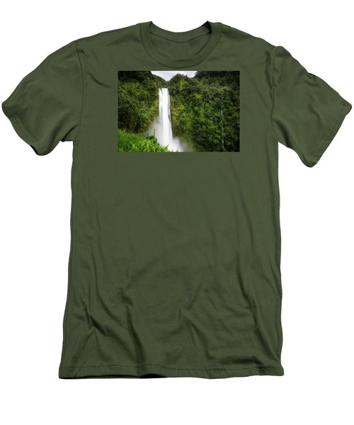 Men's T-Shirt (Slim Fit) featuring the photograph Akaka Falls by Ryan Manuel