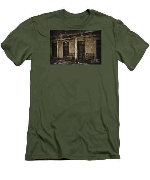 Alamo Adobe Men's T-Shirt (Slim Fit) by Kirt Tisdale