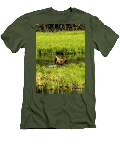 Alaskan Moose Men's T-Shirt (Athletic Fit)