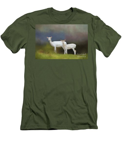 Albino Deer Men's T-Shirt (Athletic Fit)