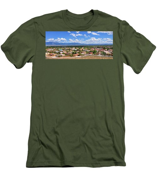 Men's T-Shirt (Slim Fit) featuring the photograph Albuquerque West Side by Gina Savage