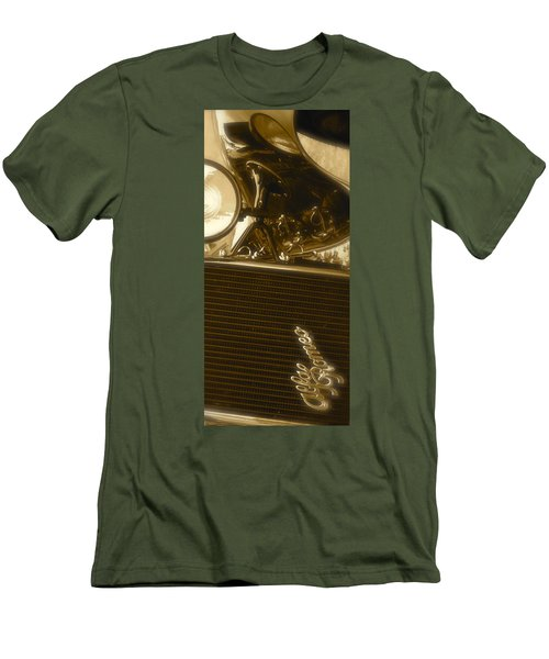 Men's T-Shirt (Slim Fit) featuring the photograph Alfa Romeo Front Grille Detail Phone Case by John Colley