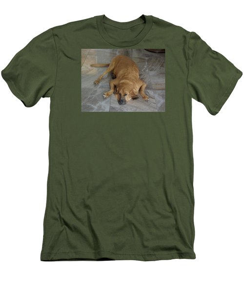 All Pooped Out Men's T-Shirt (Slim Fit) by Val Oconnor