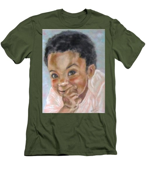 All Smiles Men's T-Shirt (Slim Fit) by Barbara O'Toole