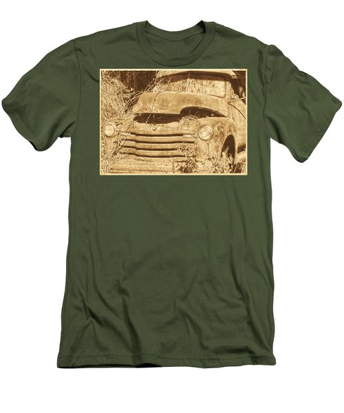 Men's T-Shirt (Slim Fit) featuring the photograph All Used Up by Victor Montgomery