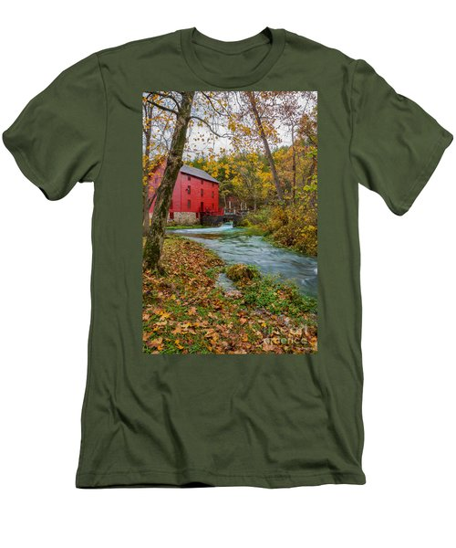 Alley Mill In Autumn Men's T-Shirt (Athletic Fit)