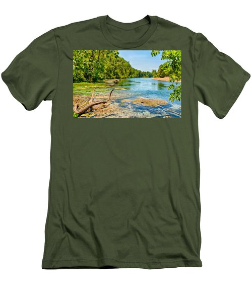 Men's T-Shirt (Slim Fit) featuring the photograph Alley Springs Scenic Bend by John M Bailey