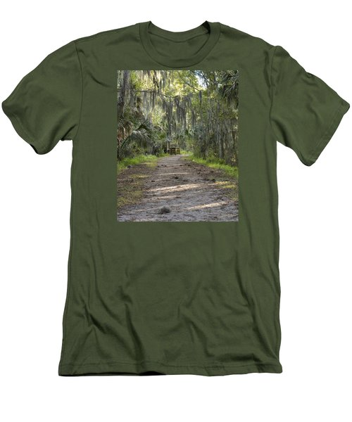 Alligator Alley Men's T-Shirt (Slim Fit) by Carol  Bradley