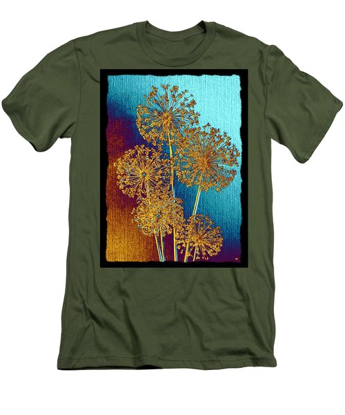 Men's T-Shirt (Athletic Fit) featuring the mixed media Alluring Allium Abstract 2 by Will Borden