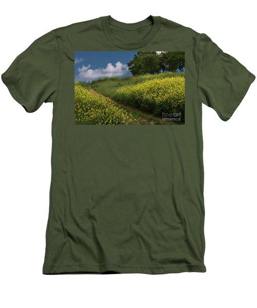 Almaden Meadows' Mustard Blossoms Men's T-Shirt (Athletic Fit)