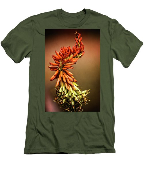 Men's T-Shirt (Slim Fit) featuring the photograph Aloe Vera Twist  by Saija Lehtonen