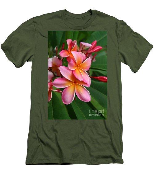 Aloha Lei Pua Melia Keanae Men's T-Shirt (Slim Fit) by Sharon Mau