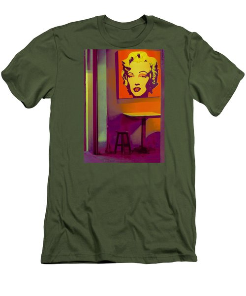 Alone Again Men's T-Shirt (Slim Fit) by Ranjini Kandasamy